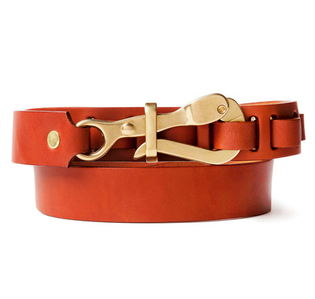 Pelican Hook Belt in Tan Leather