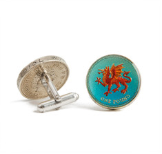 Sir Jack&#039;s Welsh Pound Coin Cufflinks