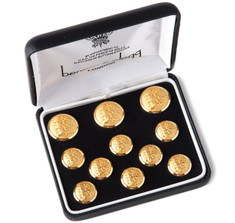 Benson &amp; Clegg Three Lions Gilt Blazer Button Set