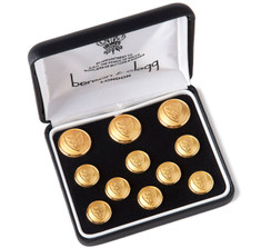 Benson &amp; Clegg Three Crowns Gilt Blazer Button Set