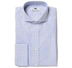 Lennox Purple Regent Check Shirt French Cuff