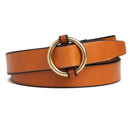 SIR JACK'S Slip Cinch Belt in Light Havanna