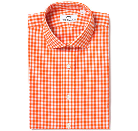 Clarendon Orange Gingham Shirt