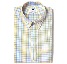Sudbury Gingham Shirt in Yellow &amp; Blue Check
