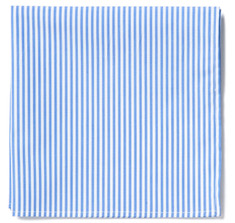 Blue & White Oxford Stripe Pocket Square