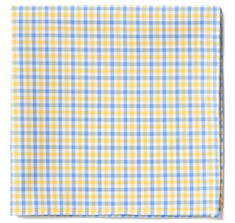 Yellow & Blue Gingham Pocket Square