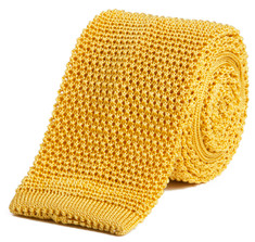 Classic Knit Silk Tie in Monte Carlo Yellow