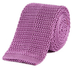 Classic Knit Silk Tie in Orchid Haze