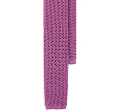 Classic Knit Silk Tie in Lavender
