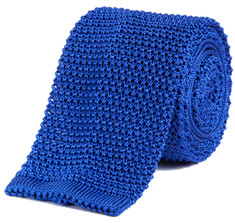 Classic Knit Silk Tie in Lagoon Blue