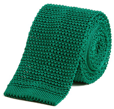 Classic Knit Silk Tie in Spruce Green