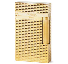 S.T. Dupont Ligne 2 Yellow Gold Diamond Head Lighter