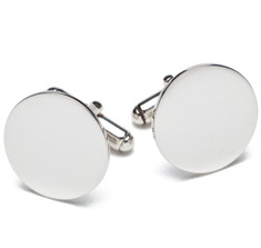 Sir Jack's Sterling Round Cufflinks