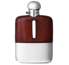 James Dixon Crocodile Hip Flask