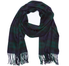 Sir Jack's Cashmere Blackwatch Tartan Scarf
