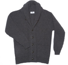Highland Charcoal Shawl Cardigan Sweater