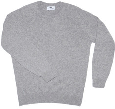 Cashmere Crewneck Sweater in Grey