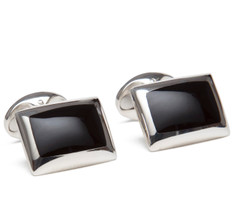 Sir Jack's Onyx & Sterling Silver Cufflinks