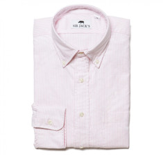 Washed Oxford Shirt in Pink &amp; White Stripe