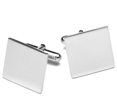 Sir Jack's Sterling Square Cufflinks