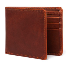 Havana Leather Billfold Wallet