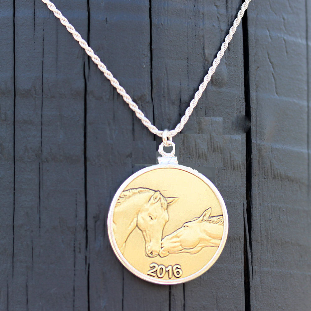 Horse Coin Necklace