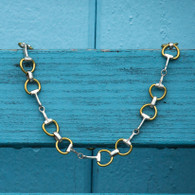 Sterling Silver Snaffle Bit Necklace | Two Tone | Caracol Jewelry
