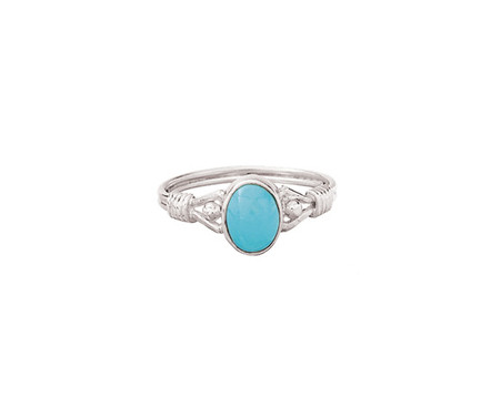 Wrapped Band Turquoise Ring | Sterling Silver
