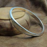 Sterling Silver Flat Bangle Bracelet