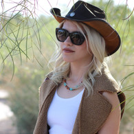 Western Leather Hat | Buffalo Nickle Accent