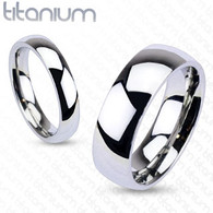 Solid Titanium Traditional Wedding Band Ring