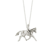Sterling Silver Pendant Dressage Rider | Kabana Jewelry