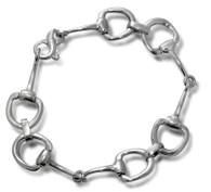Sterling Silver Snaffle Bit Bracelet