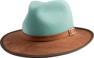 Summit Hat | Leather | Felt | Sage