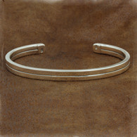 Divided Sterling Silver Cuff | Man's