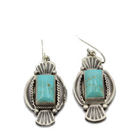 Thunderbird Western Sterling Silver Turquoise Earrings