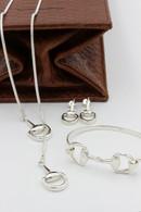Snaffle Bit Set | Earrings, Necklace, Bangle