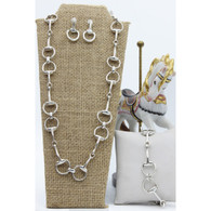 Snaffle Bit Necklace Set | Bracelet | Earrings