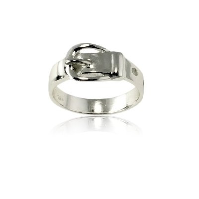 Belt Buckle Ring in Sterling Silver from Caracol Inspired Jewelry