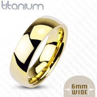 Gold Titanium Ring