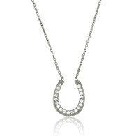 Sterling Silver Horseshoe Necklace