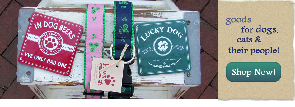 Shamrock Dog Collars & Lucky Dog Coasters