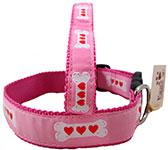 Pink Dog Collars, Pink Valentine Dog Collars
