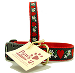 Daisy and Heart Dog Collars Made in USA