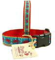 Festive Red Crab Dog Collars at PawsPetBoutique.com