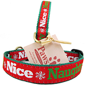 Naughty or Nice Dog Collars | Fun Christmas Dog Collars