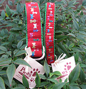 Sparkly Red Ornament Dog Collars
