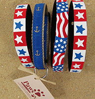 Patriotic Cat Collars at Paws Pet Boutique
