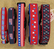 Patriotic Dog Collars at Paws Pet Boutique