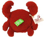 Eco-friendly Red Crab Dog Toy Made in USA at PawsPetBoutique.com